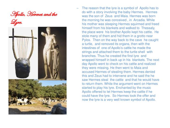Apollo, Hermes and the Lyre.