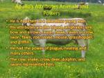 apollo s attributes animals and powers