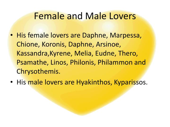Female and Male Lovers