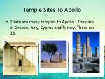 temple sites to apollo