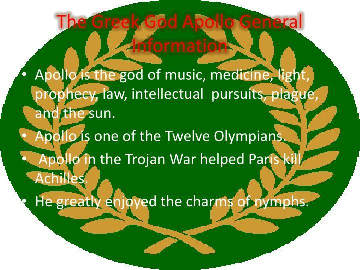 The Greek God Apollo General Information