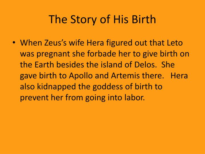 The Story of His Birth