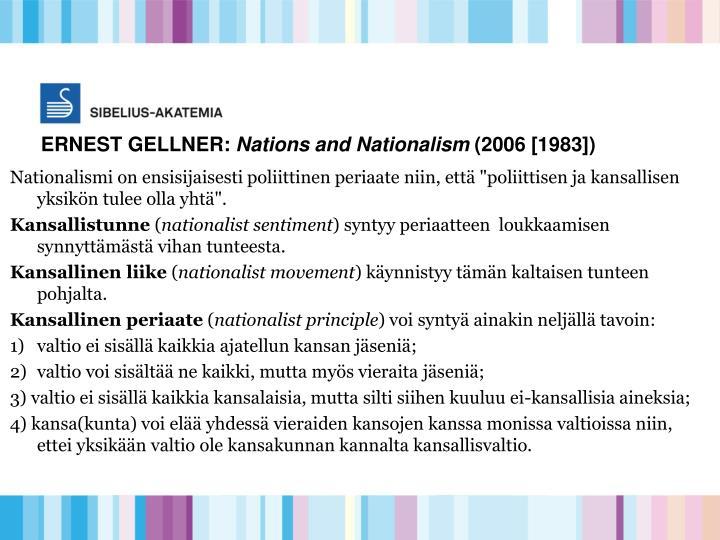 ERNEST GELLNER: