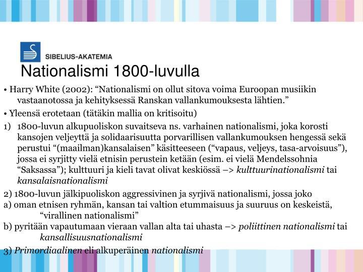 Nationalismi 1800-luvulla