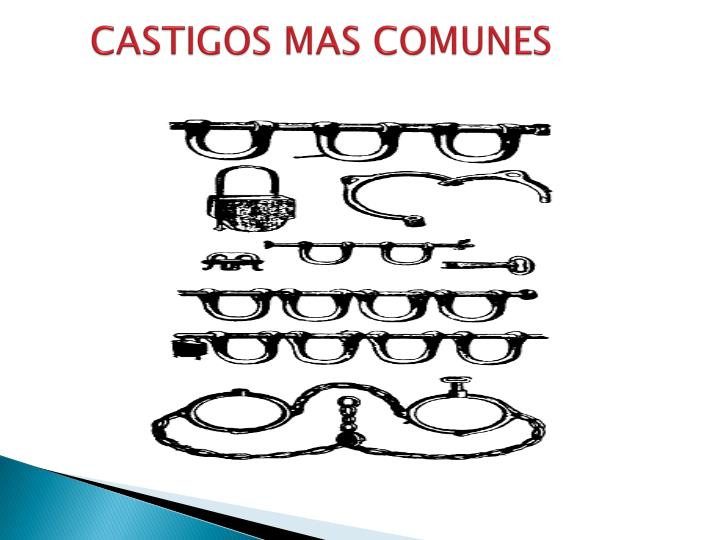CASTIGOS MAS COMUNES