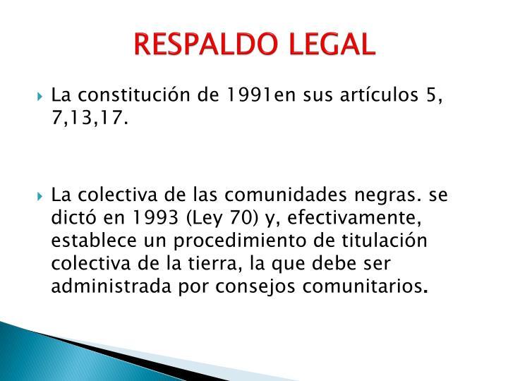 RESPALDO LEGAL