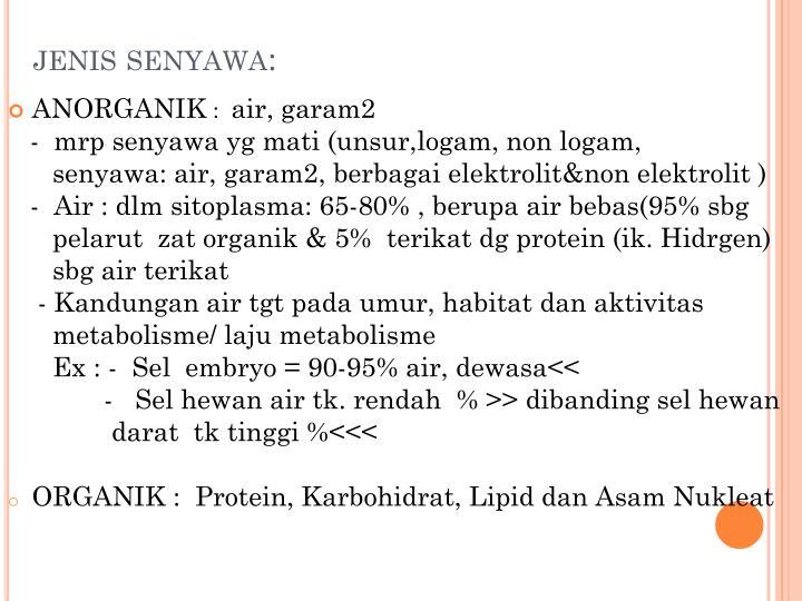 jenis senyawa:
