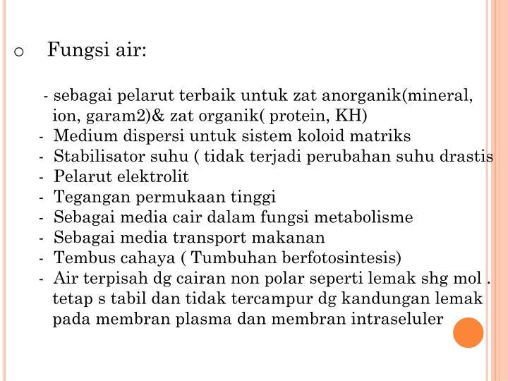 Fungsi air: