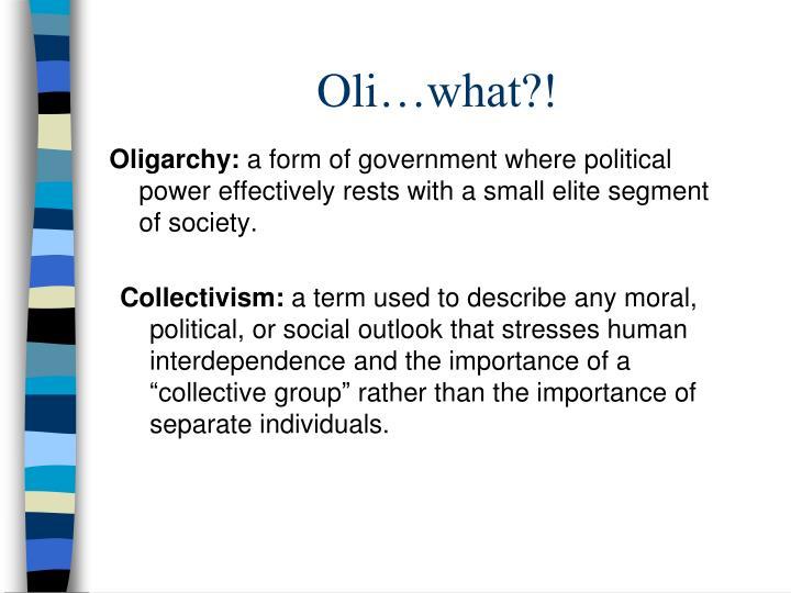 Oligarchy: