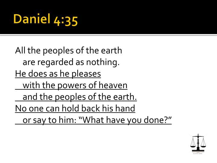 Daniel 4:35