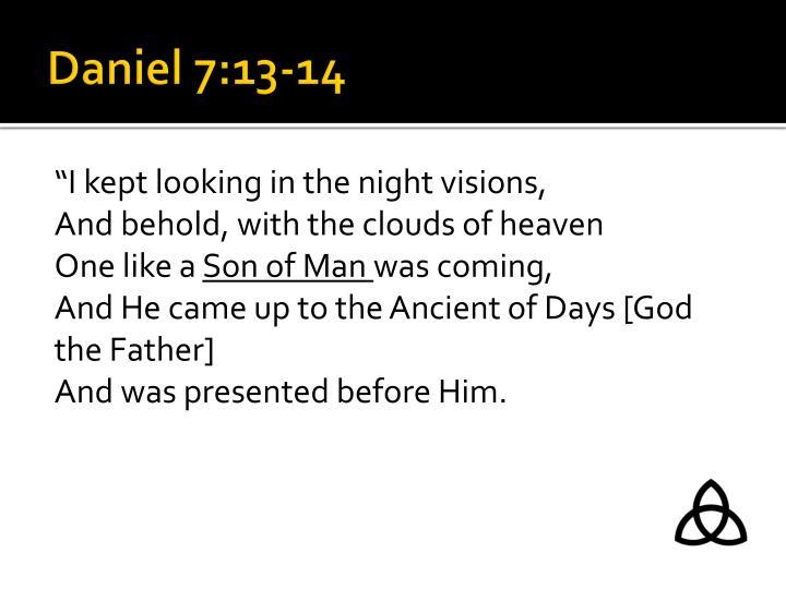 Daniel 7:13-14