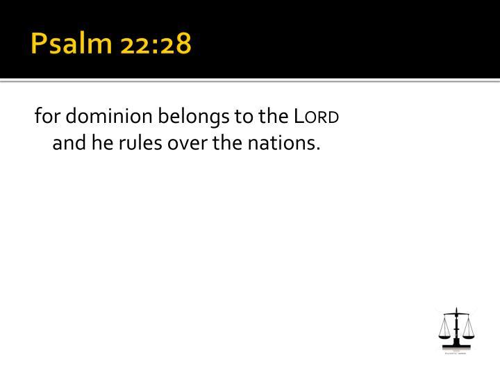 Psalm 22:28