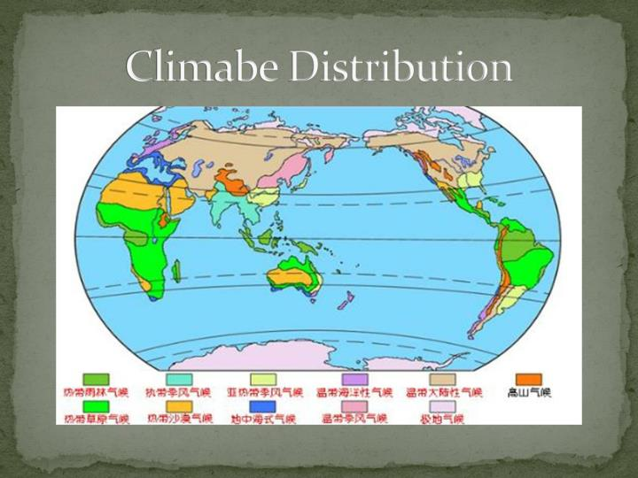 Climabe Distribution