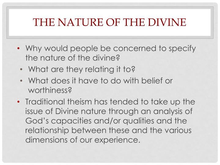 The Nature of the Divine