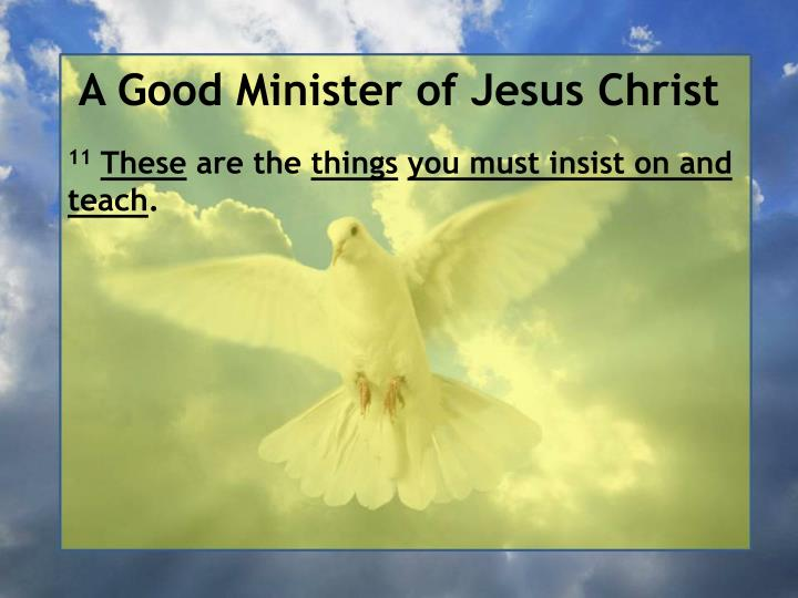 A Good Minister of Jesus Christ