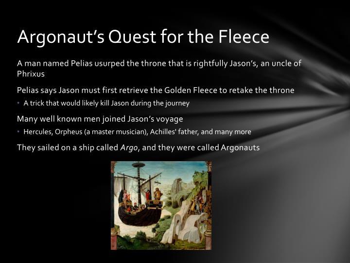 Argonaut's Quest for the Fleece