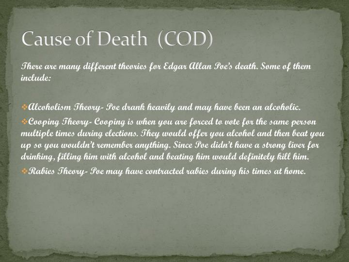 Cause of Death  (COD)