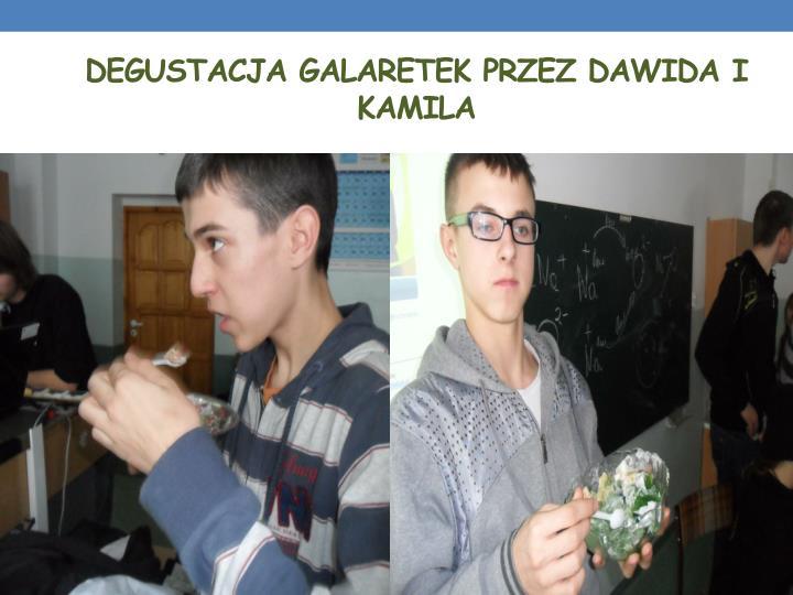 Degustacja galaretek przez Dawida i