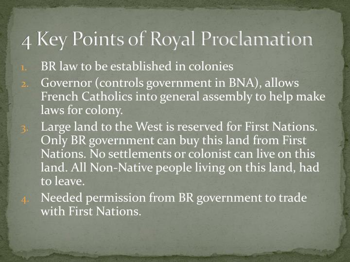 4 Key Points of Royal Proclamation