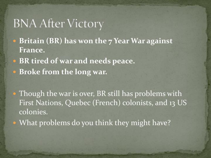 BNA After Victory
