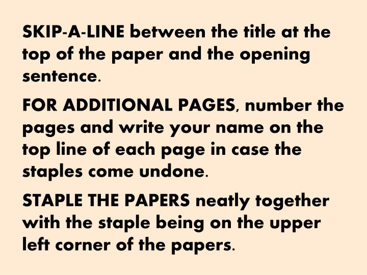 SKIP-A-LINE
