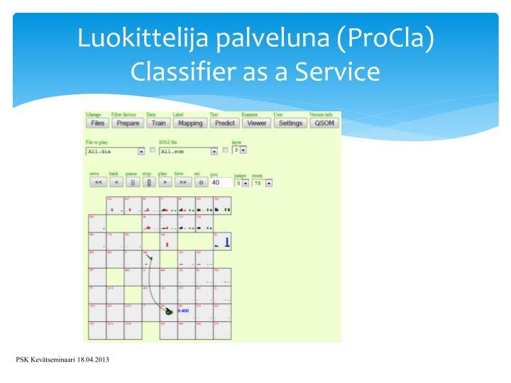 Luokittelija palveluna (ProCla)