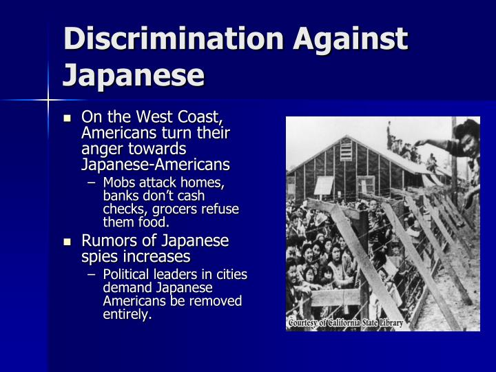 Discrimination Against Japanese