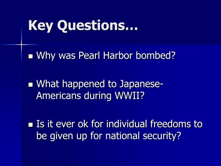 Key Questions…