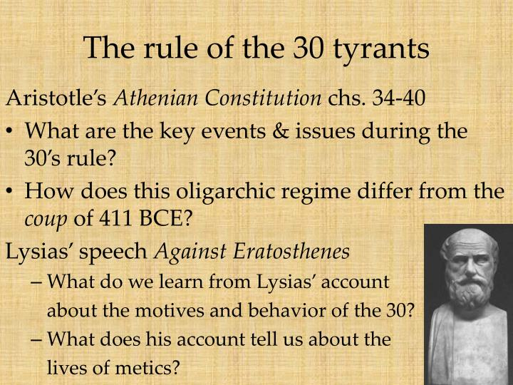 The rule of the 30 tyrants1