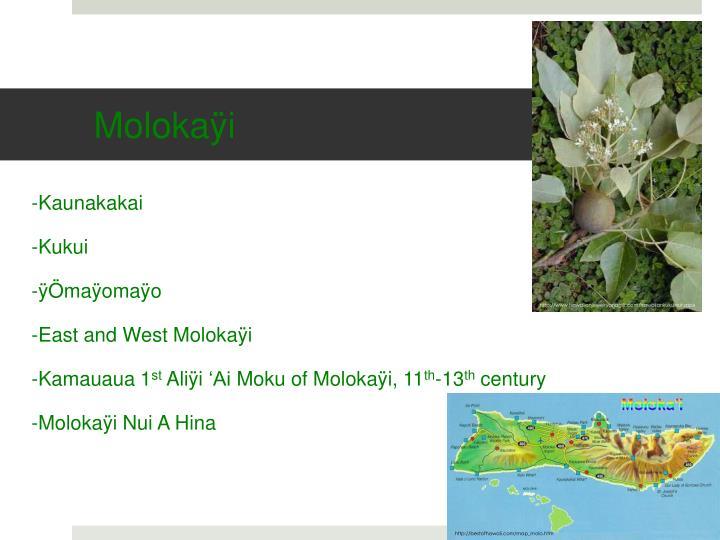 Molokaÿi