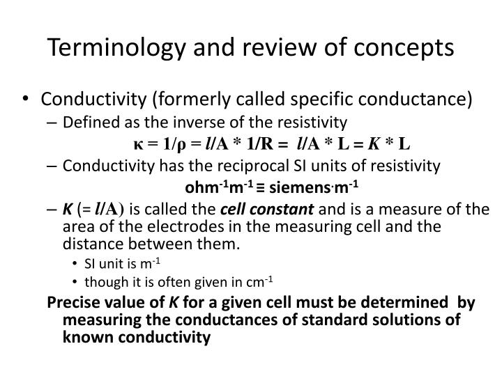 Terminology and review of concepts