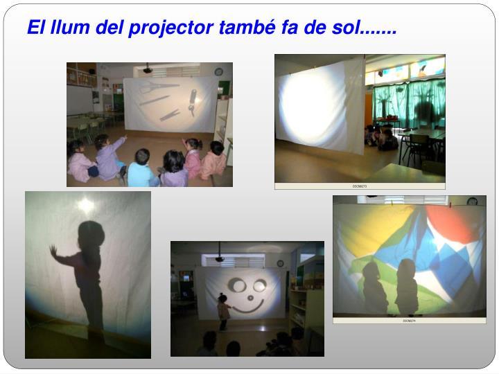 El llum del projector també fa de sol.......