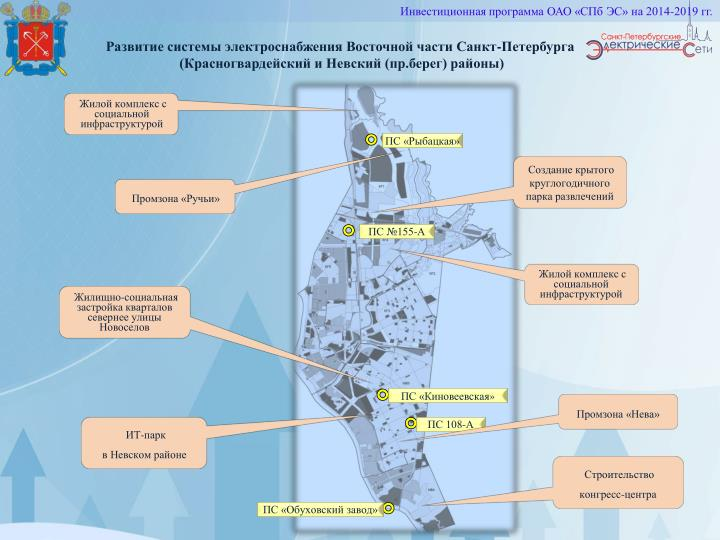 Развитие системы электроснабжения Восточной части Санкт-Петербурга