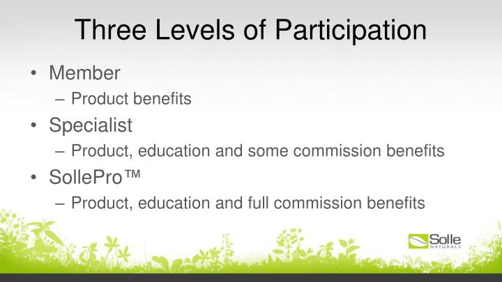 Three Levels of Participation