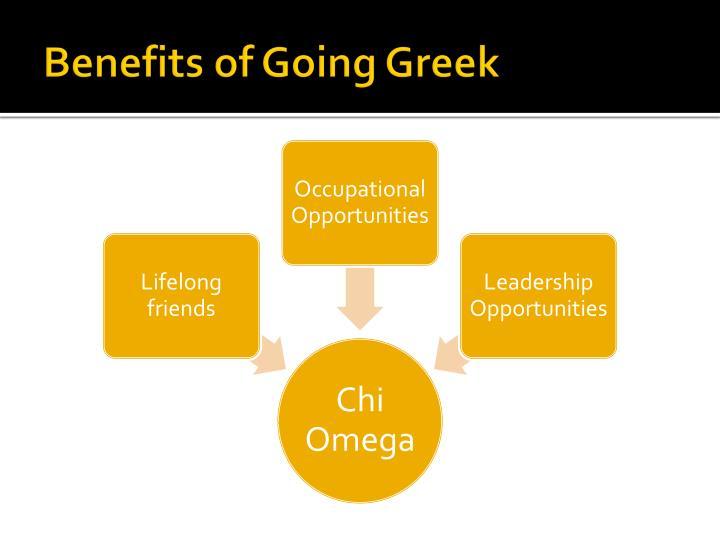 Benefits of Going Greek