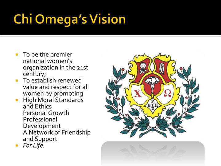 Chi Omega's Vision