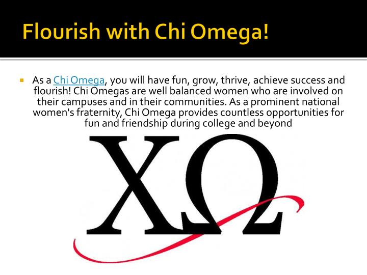 Flourish with Chi Omega!