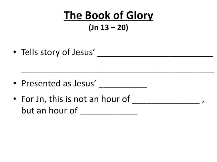 The Book of Glory