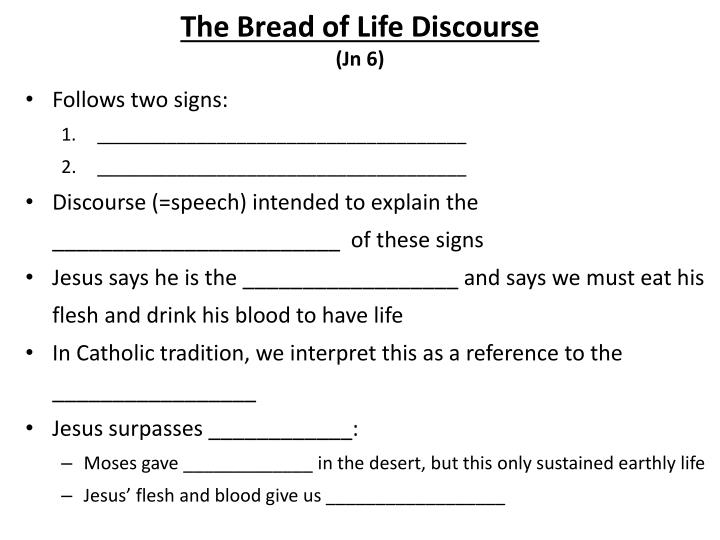 The Bread of Life Discourse