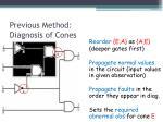 previous method diagnosis of cones