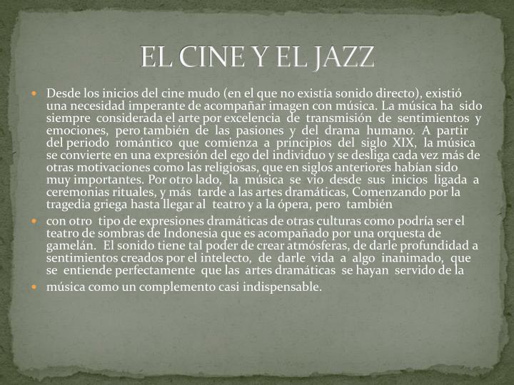 EL CINE Y EL JAZZ