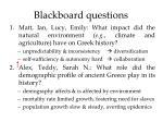 blackboard questions