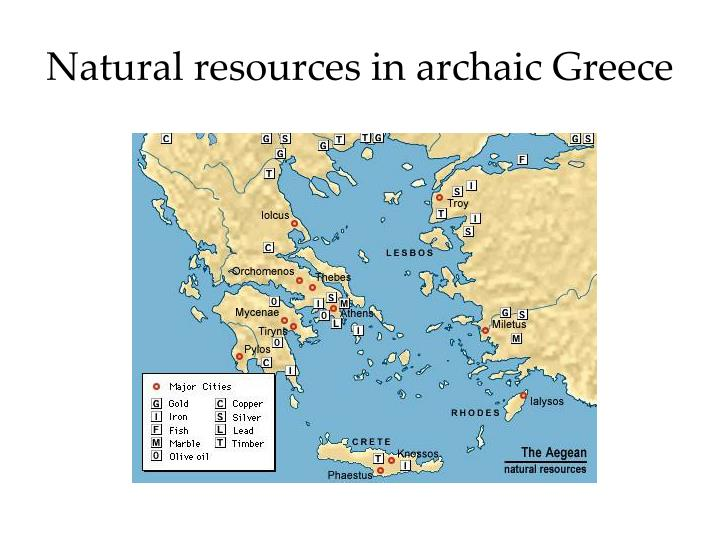 Natural resources in archaic Greece