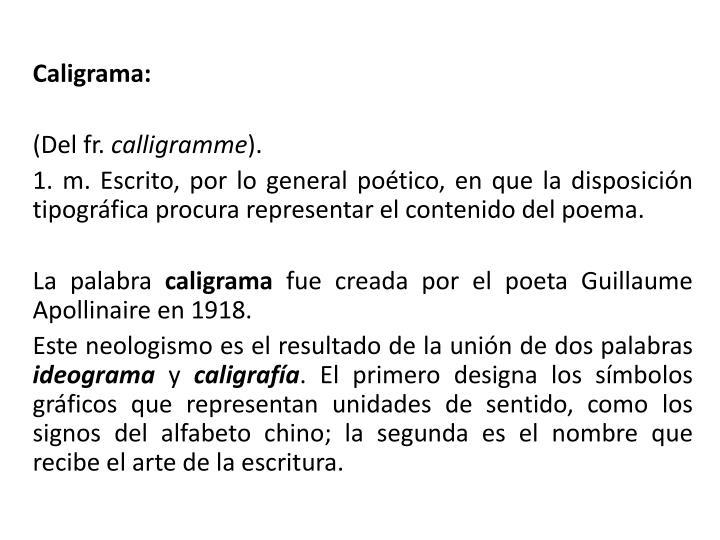 Caligrama:
