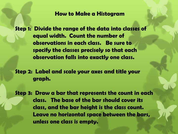 How to Make a Histogram