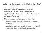 what do computational scientists do