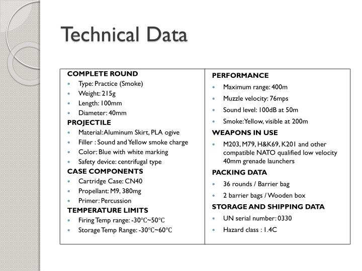 Technical Data