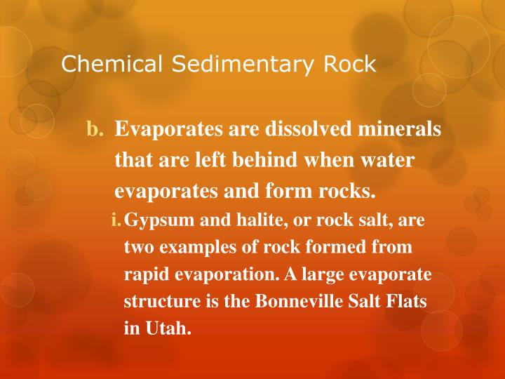 Chemical Sedimentary Rock