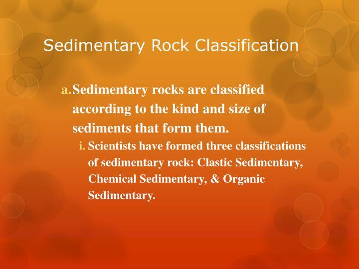 Sedimentary Rock Classification