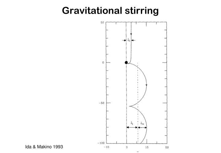 Gravitational stirring